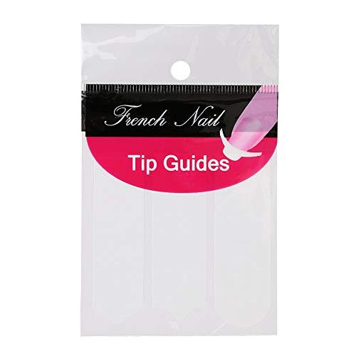 Haobase 10 Blatt French-Nagel Aufkleber Schablonen Nail Art French Nagel-Maniküre Tip Guides