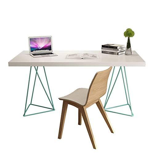 Accesorios de decoración Escritorio de oficina de madera Cuaderno para el hogar Mesa para computadora Escritorio de estudio de madera clara Mesa de recepción Estación de trabajo para oficina en cas