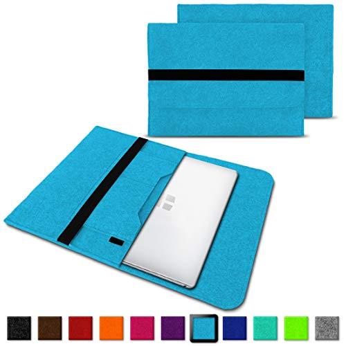 NAUC Laptoptasche Sleeve Schutztasche Hülle für Trekstor Surfbook W1 W2 Netbook Ultrabook 14,1 Zoll Laptop Filz Case, Farben:Türkis