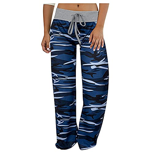 Pantalones de Pijama cómodos Estampados Casuales para Mujer Pantalones de Yoga Lounge