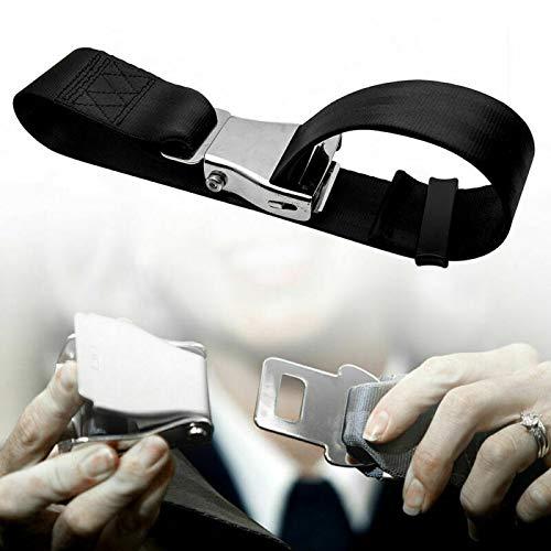 Riloer Cinturón Seguro para Asiento de Avión de 500-850 mm, Extensor de Cinturón de Seguridad para Avión, Cinturones de Seguridad Aeroespaciales