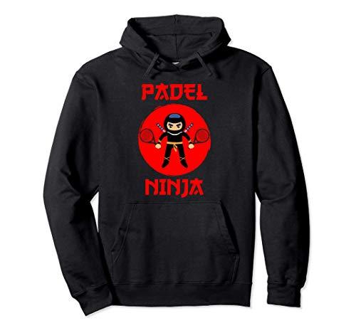 Padel Hombre Mujer Divertido Ninja Jugador Regalo Sudadera con Capucha