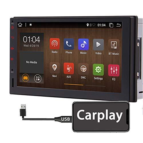 Android 10 Doppel Din Autoradio mit Bluetooth Carplay Android Auto Quad Core 2 GB RAM 32 GB ROM 7 Zoll 2 Din GPS Navi Head Unit Car Audio Radio Unterstützung Touchscreen WiFi 4G FM AM USB SD CAM-in