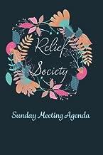 Relief Society Sunday Meeting Agenda: 6x9 50 page Mormon Agenda Book (Relief Society Presidency Stationary) (Volume 1)