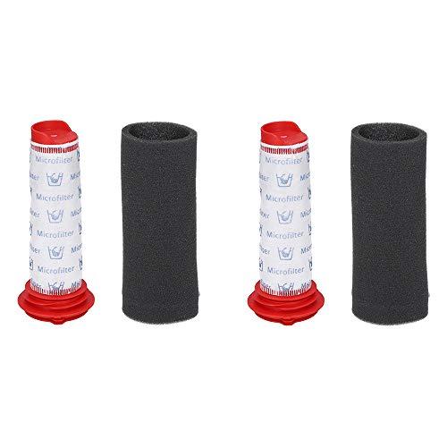 McFilter 2x Filterset für Bosch BCH6 Staubsauger wie BCH6L2561 - enthält Zentralfilter + Filterschaum, Alternative für Filter 00754176 + 00754175