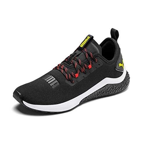 PUMA Hybrid NX, Zapatillas de Running Hombre, Black-Nrgy Red-Yellow Alert, 42 EU