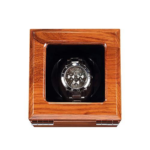 ZNND Caja de reloj automática con enchufe, almacenamiento de visualización de reloj mecánico supersilencioso para 1 relojes de hombre y mujer (color : B)