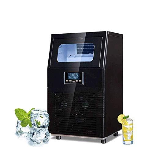 SHKUU Ice Cube Maker Máquina Hielo Comercial, 200w, 55kg / 24h, Independiente, Máquina Hacer Hielo portátil Acero Inoxidable Máquina Hielo Debajo del mostrador, para restaurantes y Bares