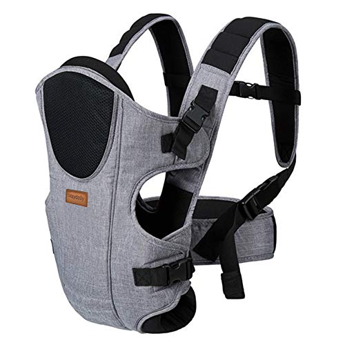 Baby Carrier Front and Back, Maydolly Multifunction 360 Infant Carrier with Head Support, 3-in-1 Ways to Carry All Seasons, Grey