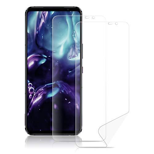 ROVLAK Protector Pantalla para ASUS ROG Phone 5 Hidrogel Protector Cobertura Completa Film Flexible Soft HD Antihuella Alta Sensibilidad Screen Protector para ASUS ROG Phone 5 [2-Pack]
