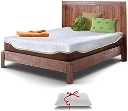 Resort Sleep Cal King Size 10 Inch Gel Memory Foam Mattress with Bonus Memory Foam Pillow