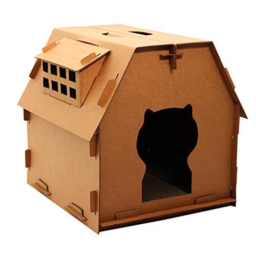 VILLCASE Katze Kratzer Bett Pappe Lounge Entspannendes Bett Crimp Papier Katze...