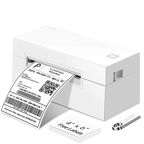 Shipping Label Printer for Windows & Mac, 4x6 Thermal Barcode Label Printer for Shipping Packages, USB Desktop High Speed Label Maker Machine for Small Business, Support USPS,DHL,Amazon,Ebay,Etsy,etc