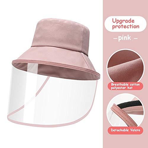 Protección Sombrero de protección Anti-escupir Anti Cubierta Cara Polvo Sombrero al Aire Libre del Pescador por los Hijos Adultos a Prueba de Viento Tapa de Seguridad de Camionero YSJ LTD