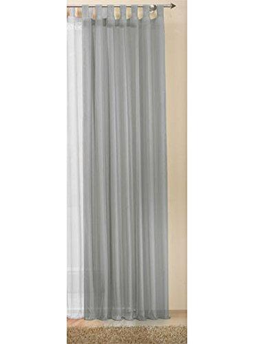 Transparente einfarbige Gardine aus Voile, viele attraktive Farbe, 245x140, Grau, 61000