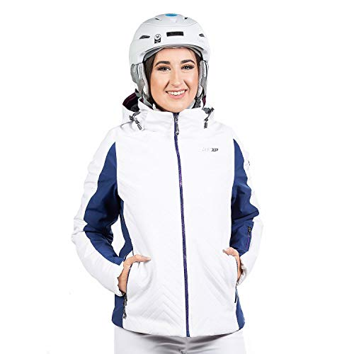 WEST SCOUT Jane Padded Jacket Damen Skijacke weiß blau (42)