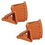 MingZhuInC 18 patas para macetas, de ladrillo, rojo, triángulo, para macetas invisibles, levantadores de dedos para interior y exterior, 7 x 6 x 2,3 cm