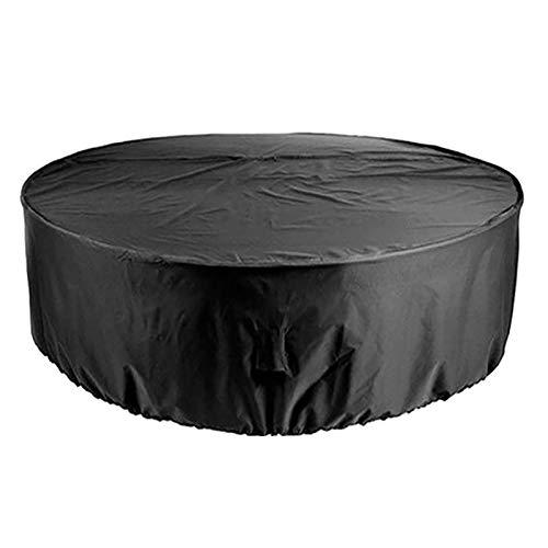 VOXKELY Muebles De Jardín Funda, Funda Protectora para Mesa Redonda Y Juego De Sillas Impermeable Resistente Exterior Patio Mobiliario Refugio Funda Anti-UV Mesa De Comed (148cm(58.2in)*60cm(23.6in))