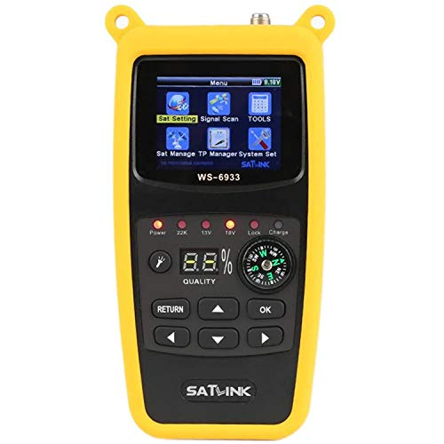 ICQUANZX WS-6933 DVB-S2 FTA C&KU Band Digital Satellite Meter Finder
