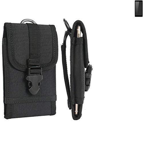 K-S-Trade® Handyhülle Für Ruggear RG850 Gürteltasche Holster Handytasche Gürtel Tasche Schutzhülle Robuste Handy Schutz Hülle Tasche Outdoor Schwarz