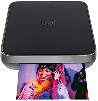 Lifeprint 3x4.5 Portable Photo AND Video Printer for iPhone and Android Make Your Photos Come To Life w/ Augmented Reality - Black