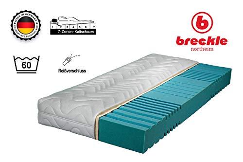 Achilles Berlin Breckle Saniflex Kaltschaummatratze mit 7 Komfortzonen und hochwertigem Doppeltuchbezug Made in Germany (90 x 200 cm)