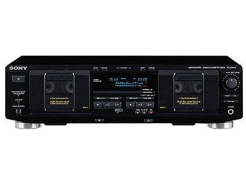 Sony TC-WE435/B Doppel-Kassettendeck schwarz