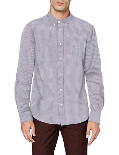 Wrangler LS 1PKT Button Down Camisa, Lunar Rock Grey, S para Hombre