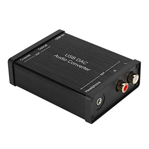 Dpofirs Adaptador de Audio USB, GV-023 Convertidor de Audio DAC Digital a analógico Tarjeta de Sonido de Audio USB para Todos los Sistemas operativos Principales