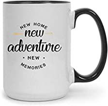 New Home 15 oz Ceramic Coffee Mug | Premium House Warming Party Present Lettered Tea Cup | First Time Home Owner Gifts for Men, Women | Home, Office, Kitchen Decoration