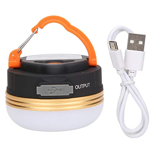 Vcriczk Lámpara de Campamento, lámpara de Tienda portátil magnética Colgante con Mango Plegable para pasear en Bote para Acampar(Golden Circle USB)