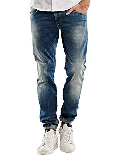 emilio adani Herren elastische Jeans, 27427, Blau in Größe 36/34