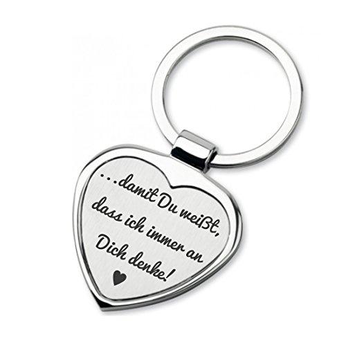 Lieblingsmensch Schlüsselanhänger in Herzform Modell: Ich denke Immer an Dich