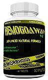 HEMOGOAWAY Natural Hemorrhoid Treatment and Pain Relief Pills. Clinical Strength 1600Milligrams.