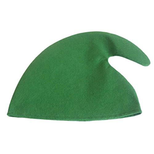 Etopfashion Tela no Tejida Sombrero de Navidad de Sombreros de Duende de Color sólido Show Props para Adultos y niños Decoración de Fiesta de Halloween de 11 x 12 Pulgadas