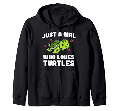 Just A Girl Who Loves Turtles Lindo Tortuga Disfraz Sudadera con Capucha