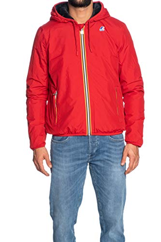K-Way Giacca Uomo Jacques Ripstop Marmotta Red C-Grey A, L