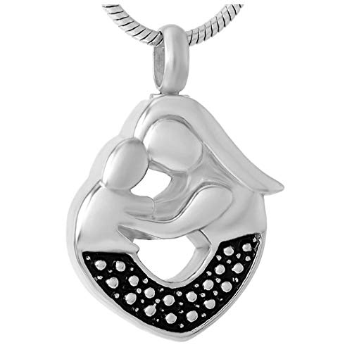 Wxcvz Memorial Urn Pendant Necklace 316L Stainless Steel Cremation Keepsake Jewelry Baby Loss Memorial Urn For Ashes For Women2017 Newest Design Cheap Selling