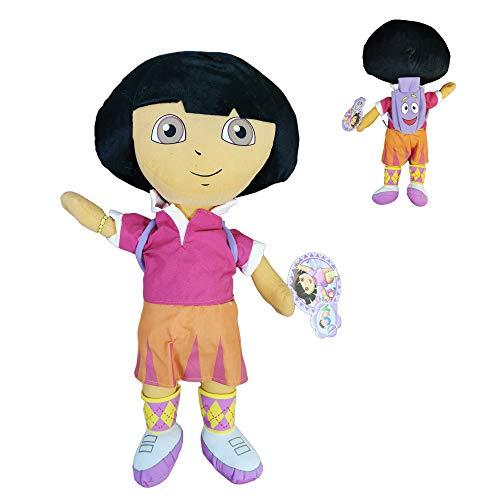 """Dora The Explorer - Peluche Dora Exploradora con Mochila 19""""/50cm Calidad Velboa"""