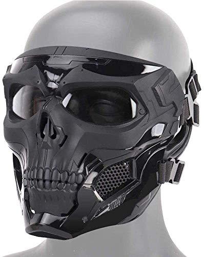 FXNB Heatile Skelett Taktische Maske Mit Polarisierten Brillengläsern Starke Anti-Stoß Sicher Und Zuverlässig Perfekte Maske Für Maskerade Party, Halloween, Cosplay, Kostüm Party, Jagd Spiel