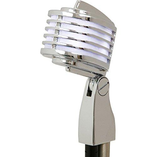 HEIL Fin-B-B - Micrófono Cromado con micrófono LED Blanco