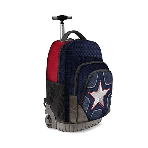 Karactermania Captain America Suit-zaino Trolley Travel GTS Mochila Tipo Casual 47 Centimeters 39.5 Multicolor (Multicolour)