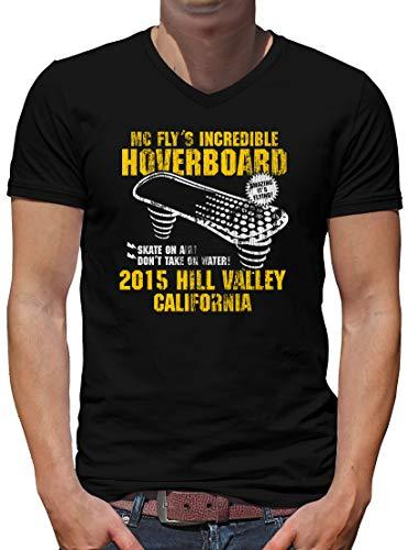 TShirt-People Hoverboard California V-Kragen T-Shirt Herren XL Dunkelblau