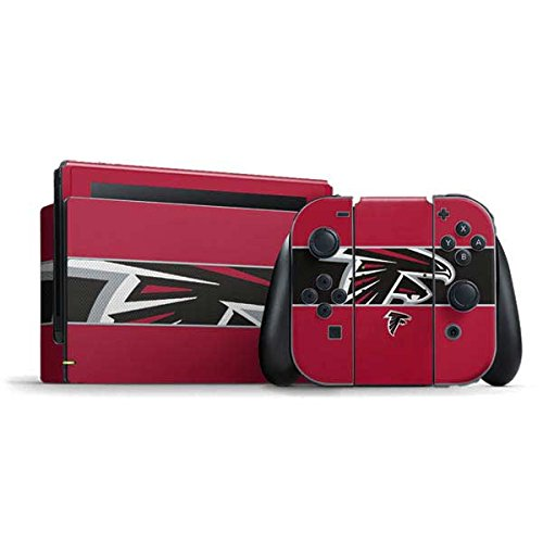 Skinit Decal Gaming Skin Compatible with Nintendo Switch Bundle - Officially Licensed NFL Atlanta Falcons Zone Block Design