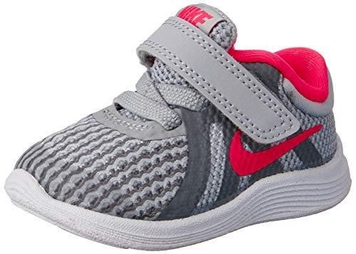Nike Unisex-Kinder Revolution 4 (TDV) Laufschuhe, Mehrfarbig (Wolf Grey/Racer Pink-Cool Grey-White 003), 27 EU