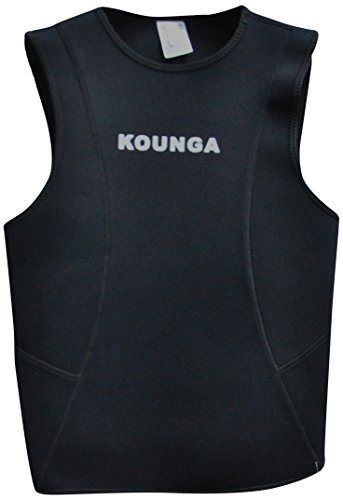 Kounga Submariner Top para Surf, Unisex Adulto, Negro, L