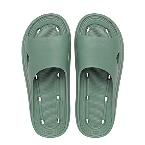 MDCGL Piscina Zapatilla Zapatillas de Ducha Planas, Sandalias de EVA Impermeables, Zapatos para Ducha de Verano, baño, Playa, Piscina, Verde EU38-39