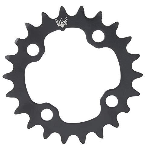 Plato de Bicicleta VEGBY, Plato Redondo de Acero al Carbono de Bicicleta 22T, Anillo de Cadena única de Forma Redonda para Bicicleta BCD 104mm 9 velocidades