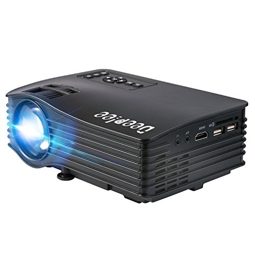 """DeepLee DP36 LED LCD Mini Projector, 120"""" Home Theater Video Projector with AV USB SD Card HDMI for Home Cinema Video Game Courtyard Movie Night Support PC Laptop PS3/PS4 Xbox Wii Projector - Black"""