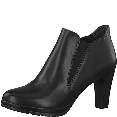 Tamaris Damen Stiefeletten, Frauen Chelsea Boots, Bootie Schlupfstiefel hoch weiblich Lady Ladies Women's Women Woman Business,Black,38 EU / 5 UK